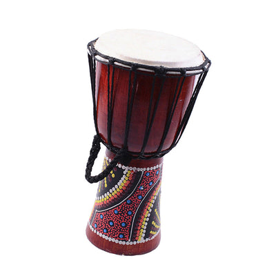 Finest 6'' Djembe Traditional African Hand Drum with Drum Stick Strap Set