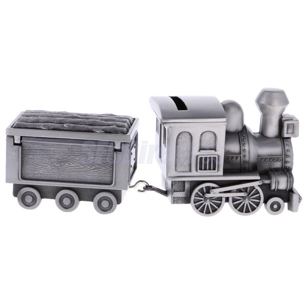 Metal Train Coins Piggy Bank Money Bank Jewelry Money Saving Box Kids Gift