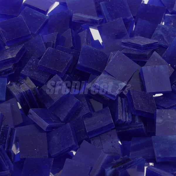 500x Vitreous Glass Mosaic Tiles Pieces for DIY Craft Supplies 10x10mm Blue