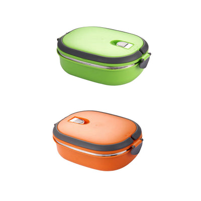 Lunch Box Stainless Insulated Thermal Bento Food Container Green, Orange