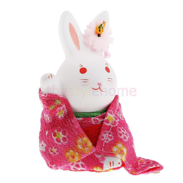 MagiDeal Japanese Kimono Rabbit Home Decoration Cute Lucky Fortune Crafts #6