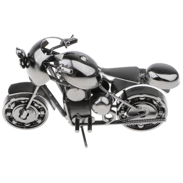 Old-fashioned Metal Motorcycle Art Crafts Gift Home Décoration - MB01 Gray