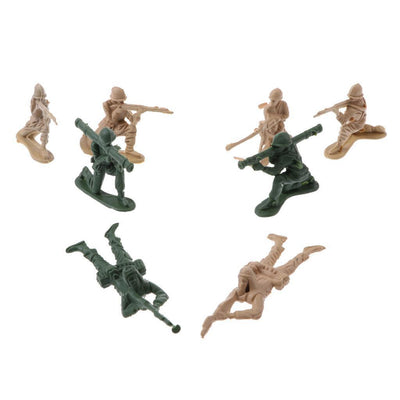 5cm Army Men Assorted Action Figures Play Set w/ Assorted Accessory - 158pcs