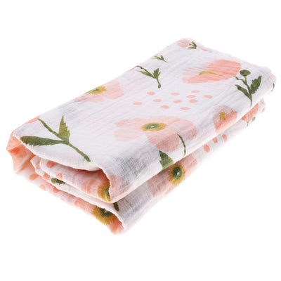 2 Pieces Baby Bamboo Fiber Wrap Towel Infant Swaddle Blankets