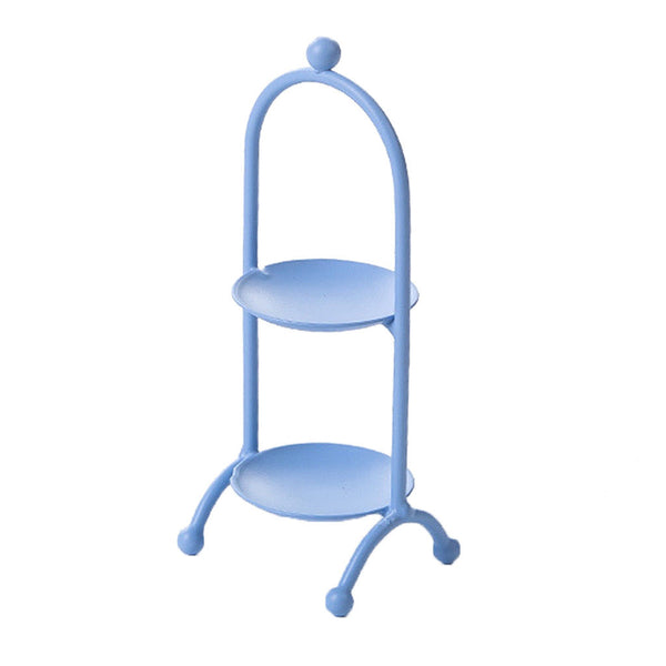 2 Tier Iron Cupcake Stand Muffin Holder Cake Rack Princess Kids Party Blue