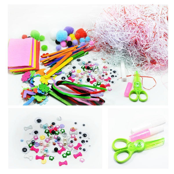 1 Set Chenille Stems Pompom Balls Fabric Children Handcraft Toys Art Games