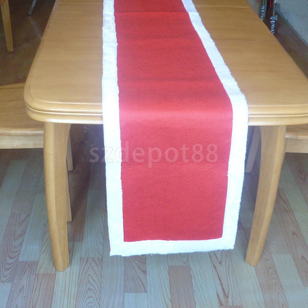 Christmas Red Table Runner Table Cover Xmas Party Table Decor 238 x 40cm