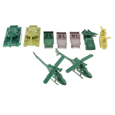 300pcs Plastic Military Set 3cm Soldiers with Tank Warplane & More Accs