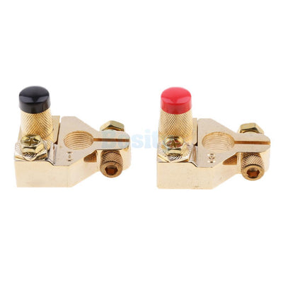 2Pcs Universal Positive Nagative Car Battery Terminal Clamp Clip Connectors