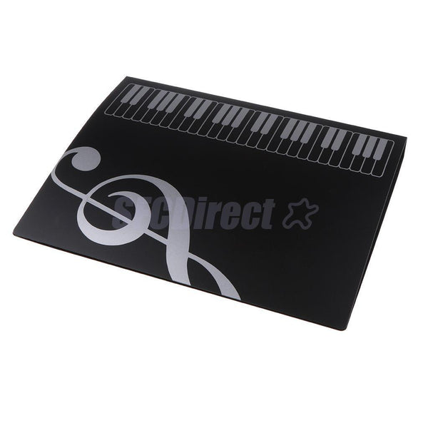ABS Piano Sheet Music Folder Musical Favorites for Piano Lovers Black