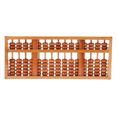 Japanese Soroban Style Abacus Wooden Frame Beads Classic Ancient Calculator
