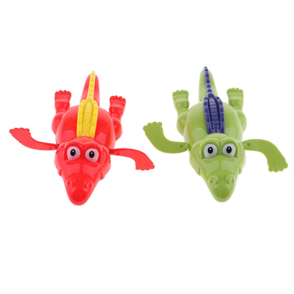 Random Wind-up Crocodile Animal Children Bath Swimming Water Clockwork Toys