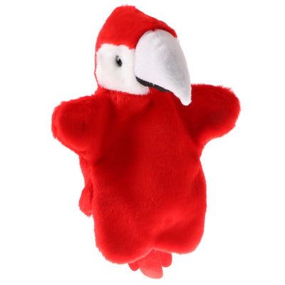 Adorable Animal Hand Puppets Kids Soft Glove Plush Toys Red Parrot