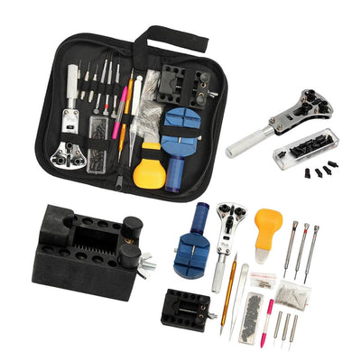 144Pcs Watchmaker Repair Tool Kit Battery Changing Remover Screwdriver Tools
