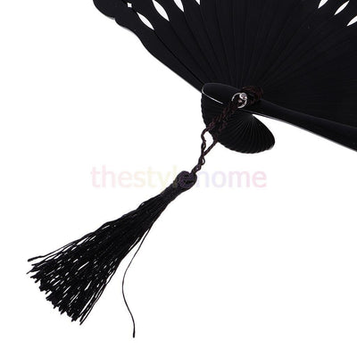 MagiDeal Chinese Silk Wedding Parties Dance Fan Handheld Home Decoration #9