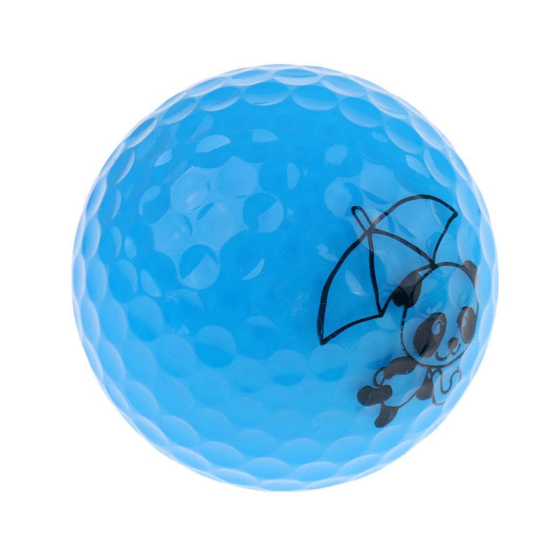 16Pcs Cute Panda Patterns Golf Practice Ball Synthetic Rubber Golf Ball