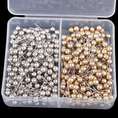 800 Pcs Thumb Tacks ,Map Push Pins 13mm SilverGold Office School Accessories