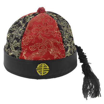 Stage Performance Prince Cap - Red Black D9O6 U8L8