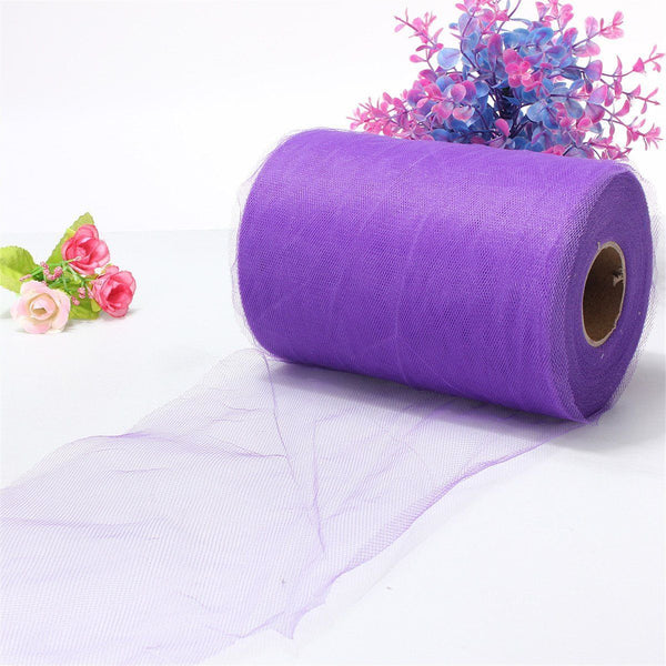 "Soft 6""x100yd Tulle Roll Spool Wedding Decor 6""x300' purple CS"