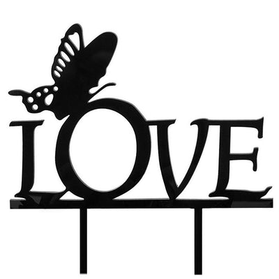 Butterfly LOVE Monogram Cake Topper 15*16.2cm Y2Y2