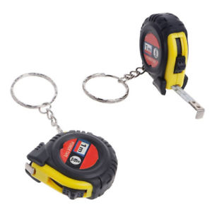 Alcoa Prime Mini 1 Meter 3.28-ft Steel Measuring Tool Ruler Tape Key Chain Ring Decoration