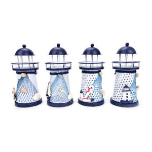 LED light metal lighthouse anchor mediterranean decor home nautical decoration