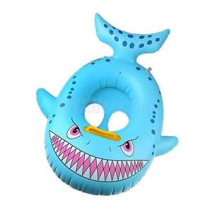 Alcoa Prime Shark Shaped Kids Baby Swimming Pool Swim Seat Float Boat Ring Water Toy
