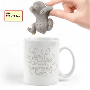 Animal Sloth  Tea Infuser Loose Tea Leaf Strainer Herbal Spice Filter Diffuser
