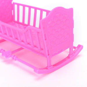 Darling Doll Furniture for American Girl Rocking Cradle Bed Pink QW