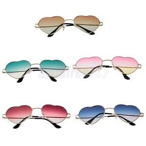 Alcoa Prime 5pcs/ Pack Mixed Color Lady Eyeglasses Heart Rim Sunglasses Outdoor Eyewear