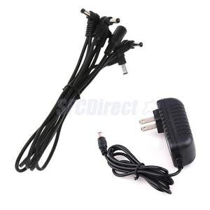 Alcoa Prime 5 Way DC Power Cable for Guitar Effect Pedal with DC Power Supply Adapter C