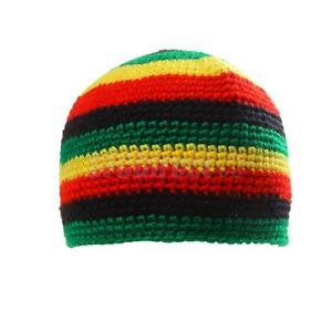 Alcoa Prime Fashion Striped Reggae Jamaica Rasta Beanie Hat Dome Cap DreadLock Tam Beret