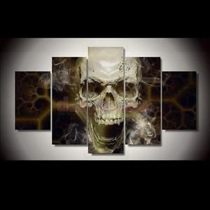 Alcoa Prime 5Panel Skull Canvas Print Wall Art Oil Painting Picture Home Decor Noframe L
