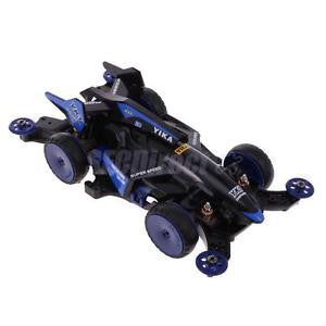 Alcoa Prime DIY 4WD Racing Car Electric Toys Assembled Toys Collectable Gift YK1 Blue