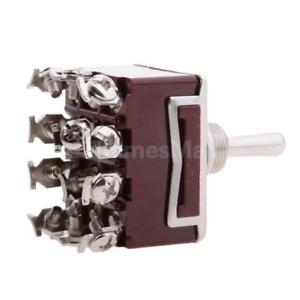 15A ON-ON Position with Waterproof Cover 12-Pin Toggle Switch New
