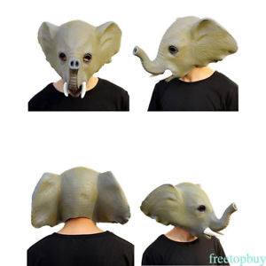 Halloween Exquisite Elephant Mask MakeUp Dance Latex Environment Friendly HM56
