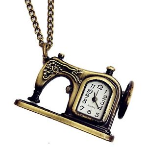 Alcoa Prime Pocket watch quartz shape with alloy bronze necklace retro style U1B1