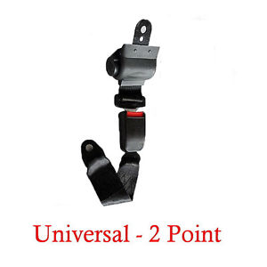 (1 Kit ) Universal Strap Retractable Car Trucks Safety Seat Belt Black 2 Point