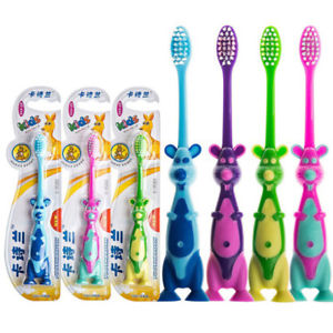 Alcoa Prime Wisdom Kids Soft Toothbrush 3-12 Dental Care Cartoon Animal Hot Effective