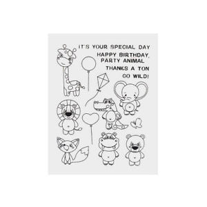 Wild Animals Transparent Clear Stamp DIY scrapbooking/photo album Xmas Decor GS