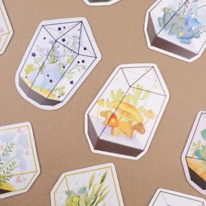 30 Pcs Glass Greenhouse Flower Postcards Greeting Post Cards Birthday Card Gift