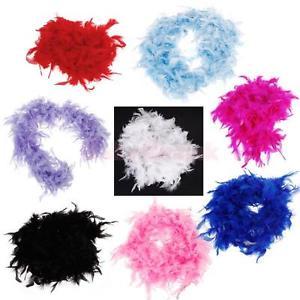 Alcoa Prime Feather Boa Fluffy Craft Decoration 6.6 Feet Long - Magenta
