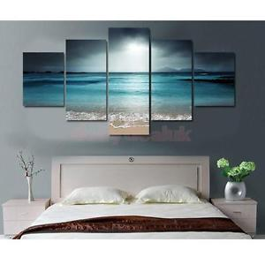 Alcoa Prime Set of 5 Panels Canvas Decorative Sunset Print Wall Art Paintings 40/60/80cm