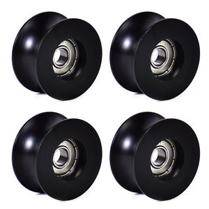 4Pcs 0840UU 8mm Groove Guide Pulley Sealed Rail Ball Bearing 8x40x20.7mm EF