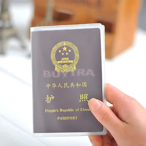 2x Transparent Passport Cover Holder Case Organizer ID Card Practical Tool TB
