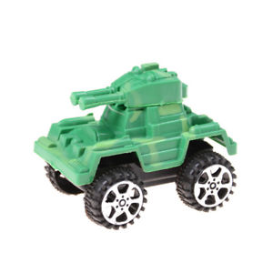2X Plastic Pull Back Diecasts & Toy Military Car Kid Toys tank for baby gift QW