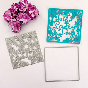 """How A Lovely Day"" Cutting Dies Stencil DIY Paper Cards Scrapbook Diary Gift"