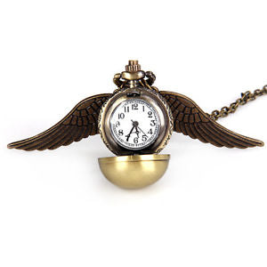 Alcoa Prime Luxury Design Angel Wing Ball Quartz Pocket Watch Pendant Necklace Mini Watch