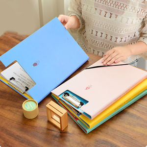 1Pc A4 Paper File Folder Cover Holder Document Office School Supplies Portfolio