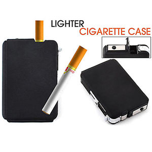 Automatic Wind Proof Lighters Pocket Ejection Butane Cigarette Case Box Gracious